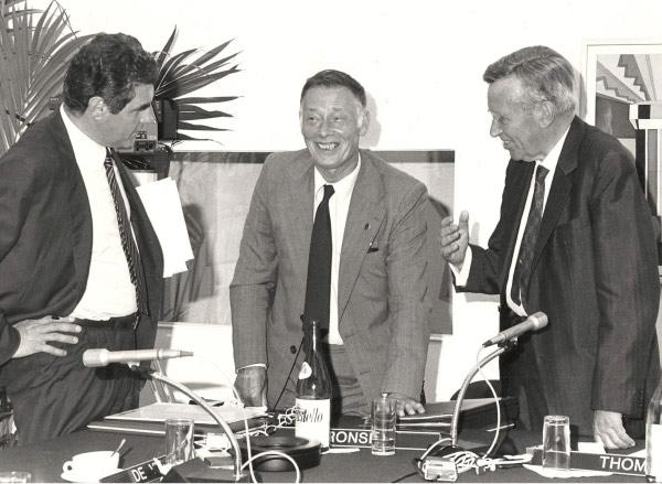 1986, Milano, inizio di presidenza UEA… e anche con il Segretario Generale Emmanuel Ronse