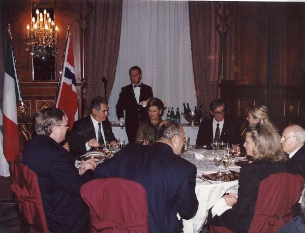 2001, 25 Ottobre Cena di Gala con i Reali di Norvegia, Harald V e Regina Sonja